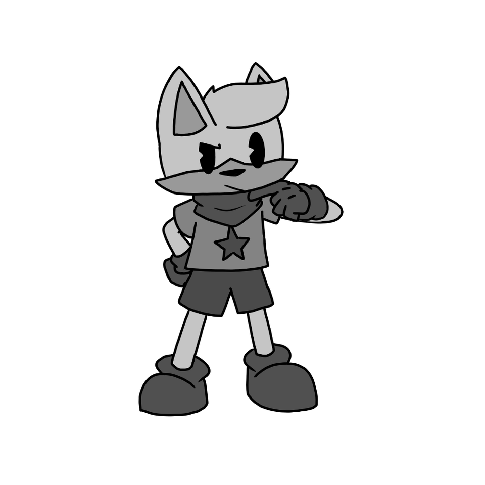 ??? Illust of Gaming Doge cartoon wolf medibangpaint