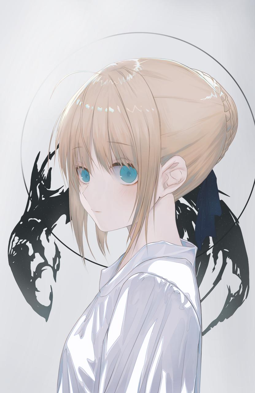Look at Illust of SOUZE medibangpaint girl saber Fate original 冷艳 Fate/GrandOrder