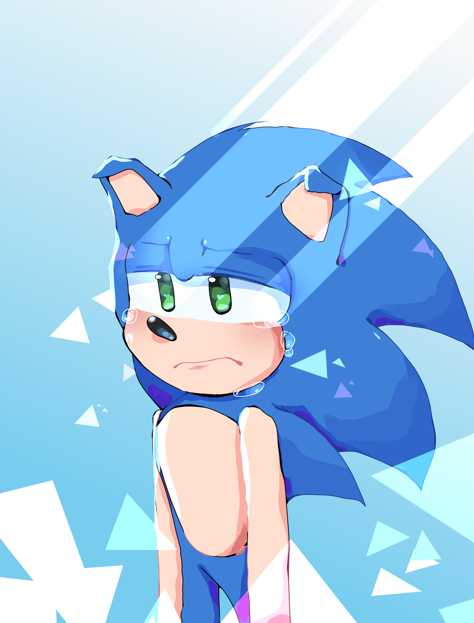 sad boi ':(       read desc if ya want to... Illust of Infinite stylez medibangpaint sega blue infinitestylez sad:( Sonic lightcolors sick