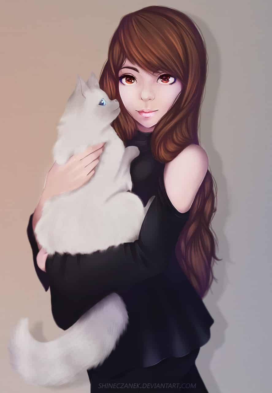 LadyCat  Illust of Czanek girl drawing