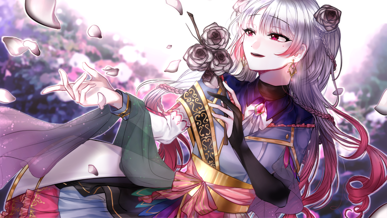 . Illust of 그쉬   グッシュ geuswi girl flower