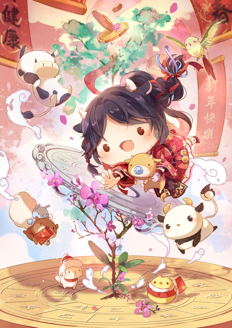 牛轉乾坤 Illust of 雲小栗 January2021_Contest:OC chibi animal newyear original 牛