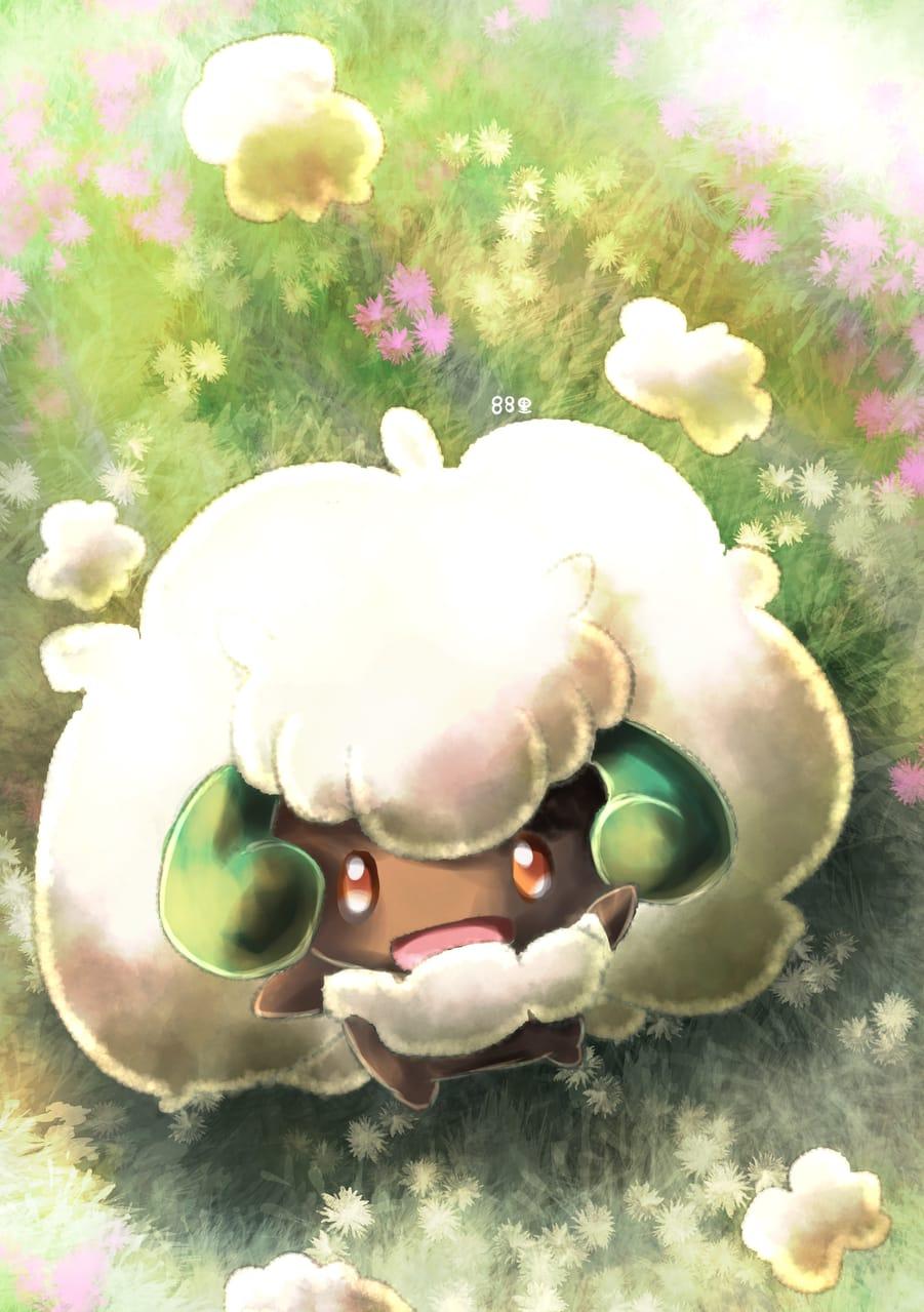 エルフーンの日 Illust of 88里 April2021_Flower ポケモンBW pokemon 綿花ポケモンの日 エルフーン エルフーンの日