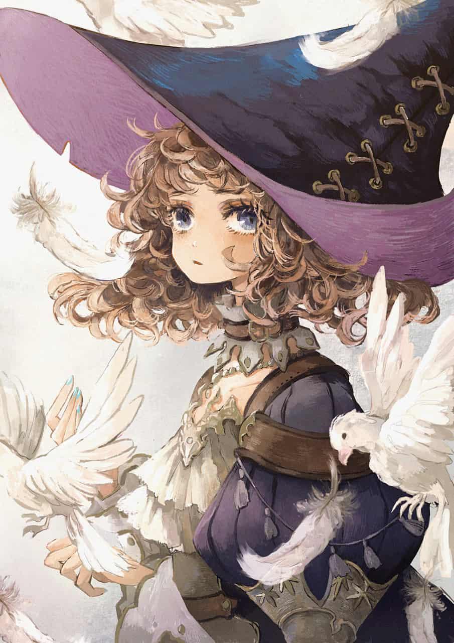 鳩と魔女 Illust of あり oc witch ファンタジーキャラ original