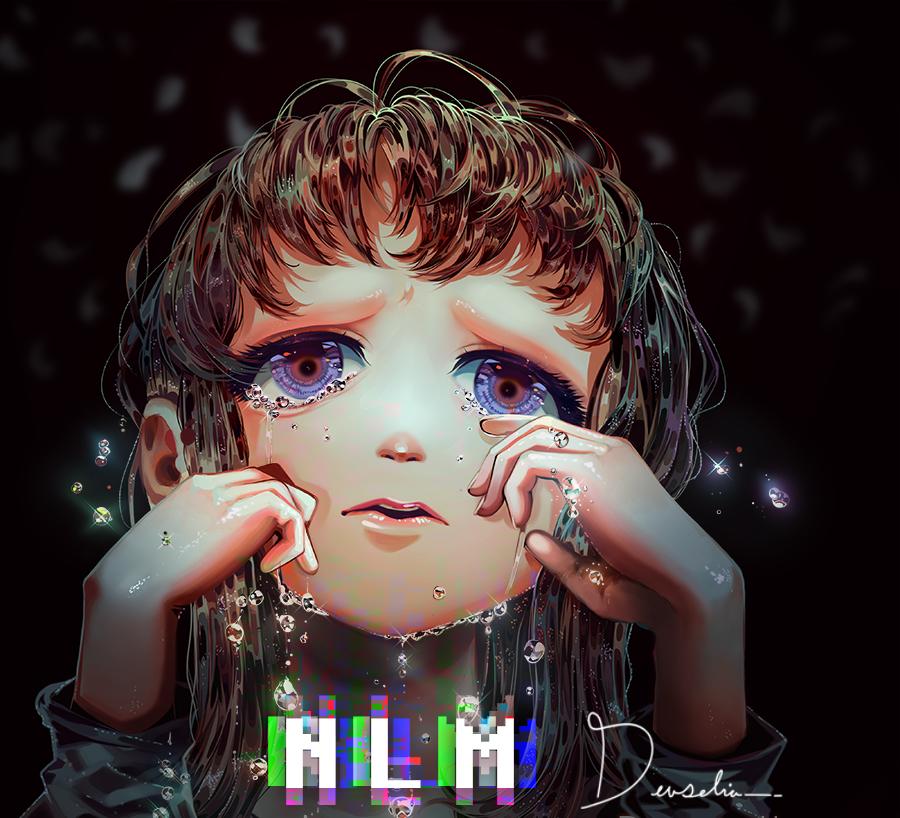 Care Illust of Devselia tears photoshop petals sad petscop