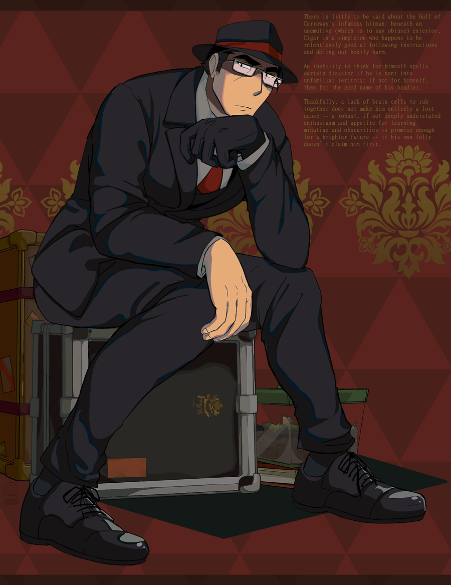 CIGAR Illust of rienlen suit medibangpaint oc