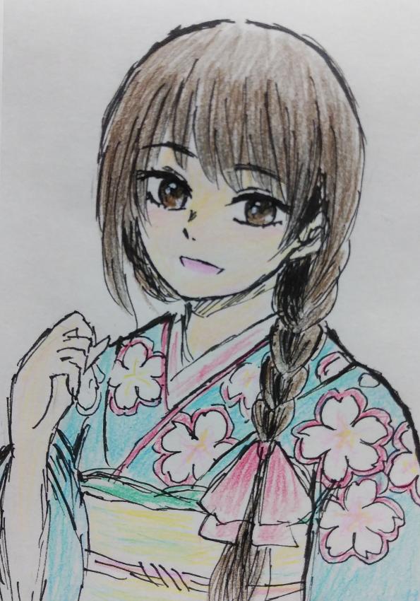 女の子アナログ Illust of 嫺やか medibangpaint アナログ coloredpencil original girl