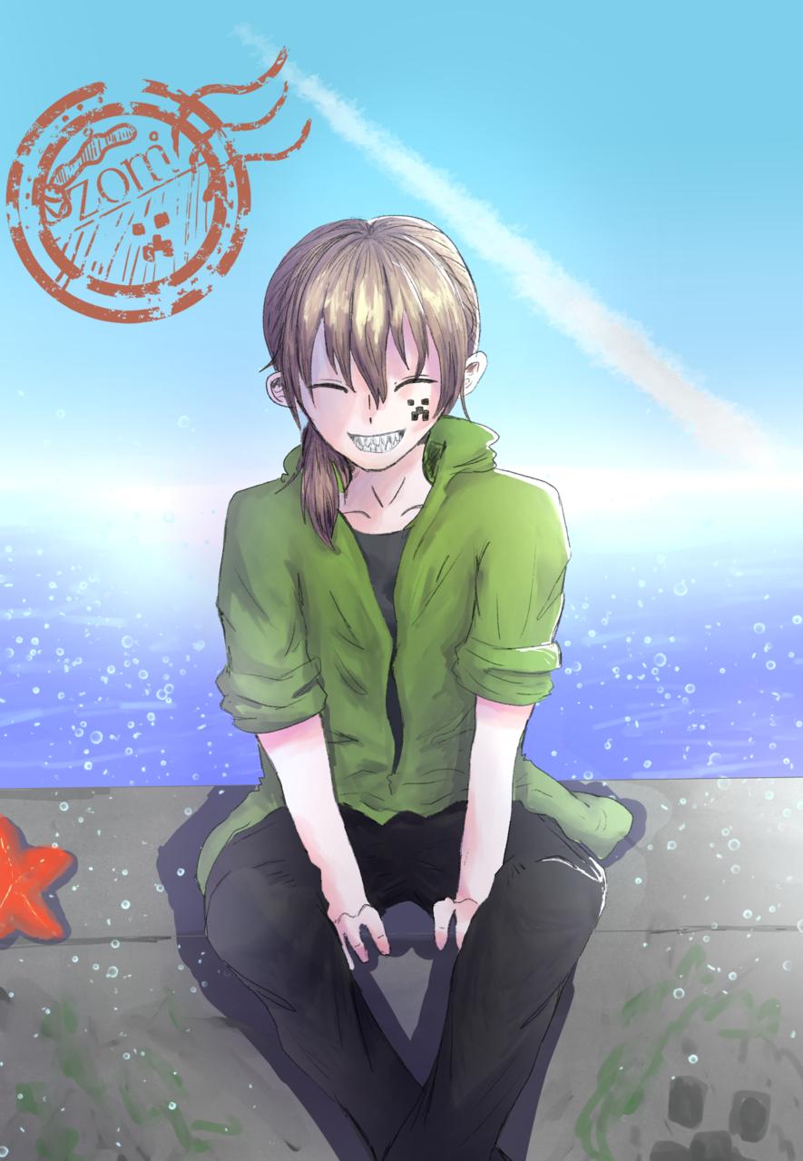 夏が似合う男 Illust of ホニャッキ>< sea summer ゾム male ○○の主役は我々だ!