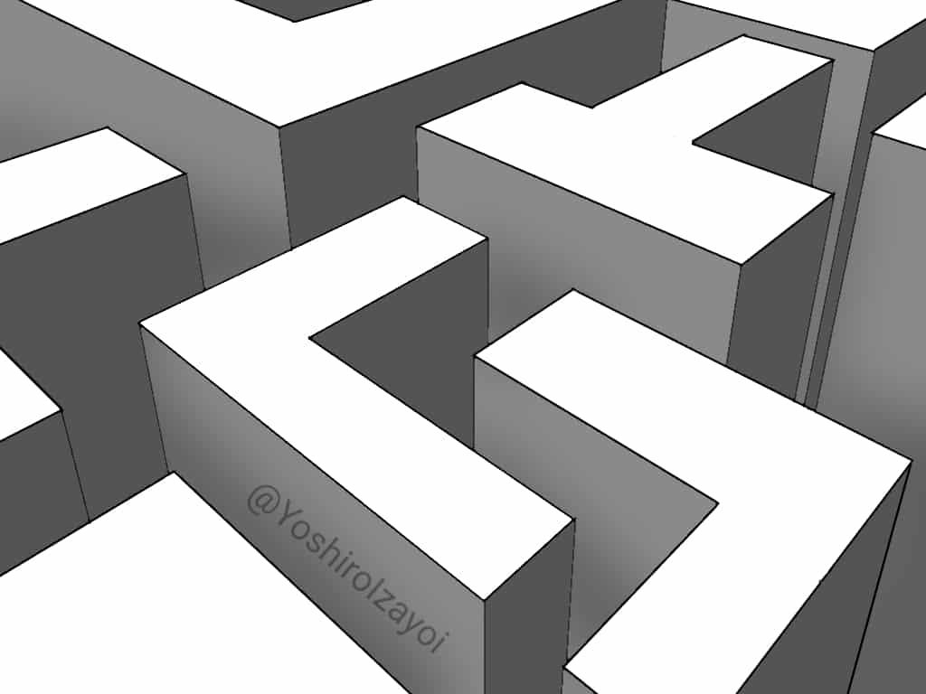(1) Illust of Izayoi Yoshiro maze Cool monochrome
