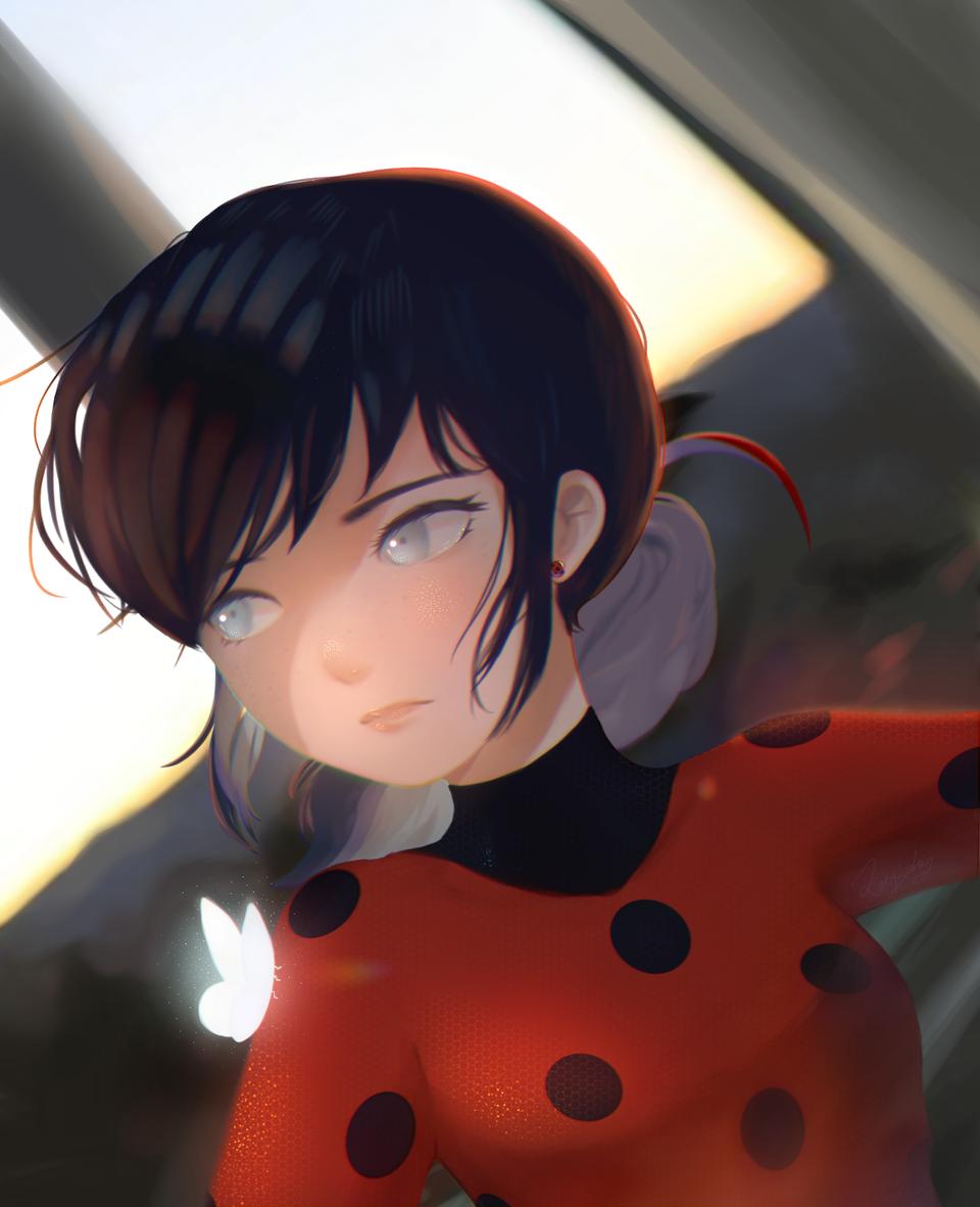 Ladybug without her mask