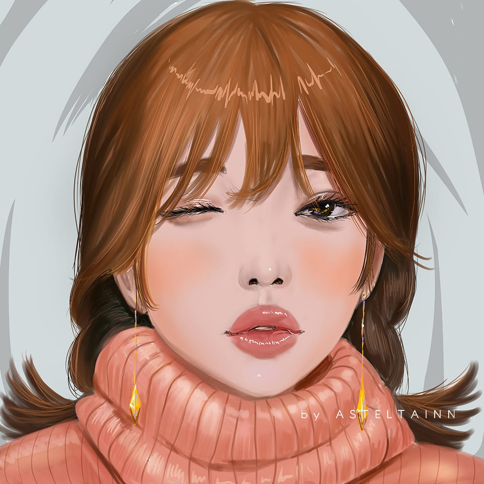 drawing with Reference in Medibang (video) Illust of asteltainn portrait anime tutorials tutorial portraitgirl