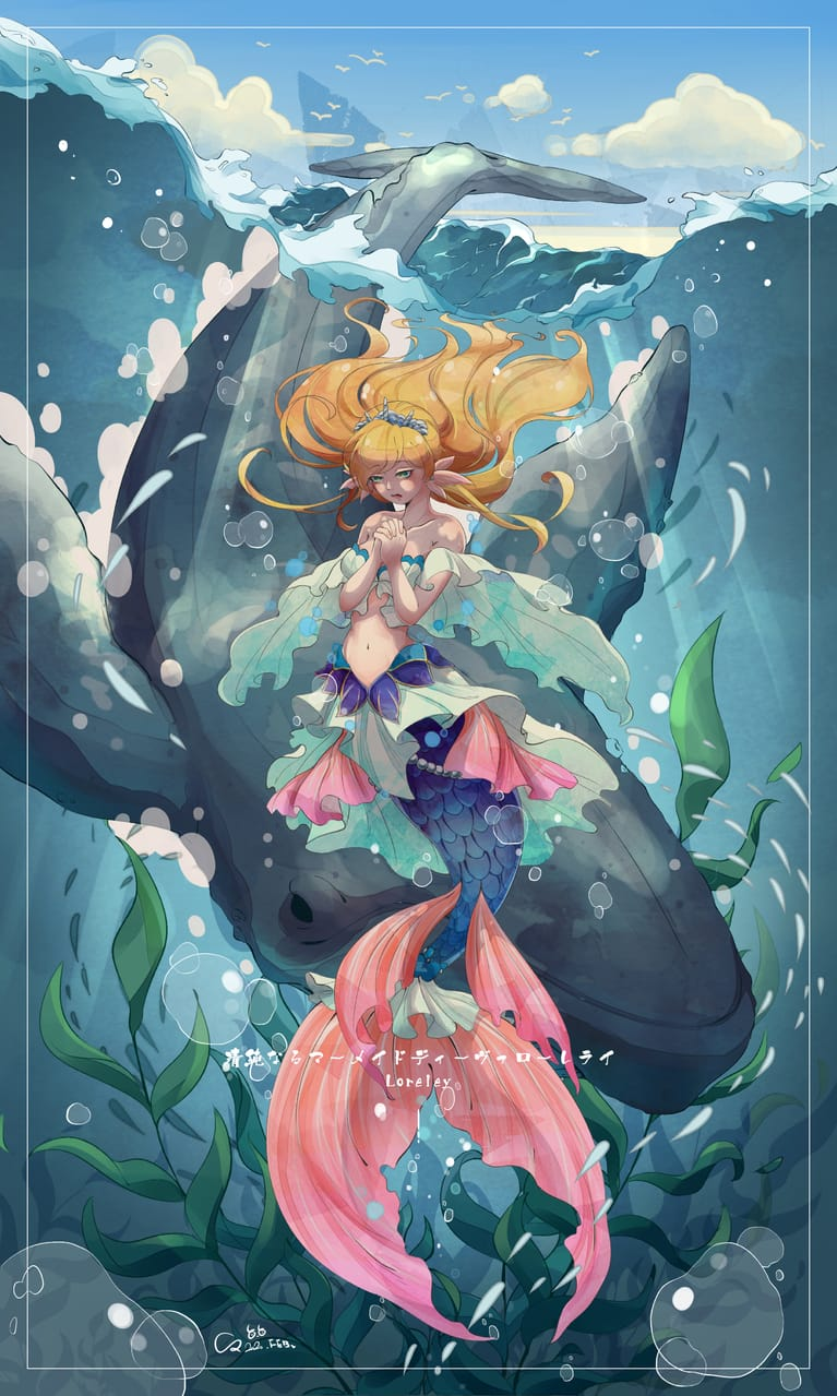 Mermaid's Song  Illust of INU February2021_Fantasy