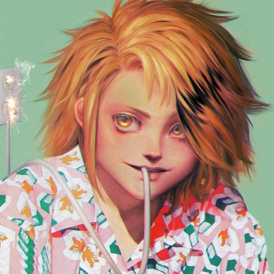 Kaminari Denki Illust of heresyourlight MyHeroAcademia painting handsome anime hair