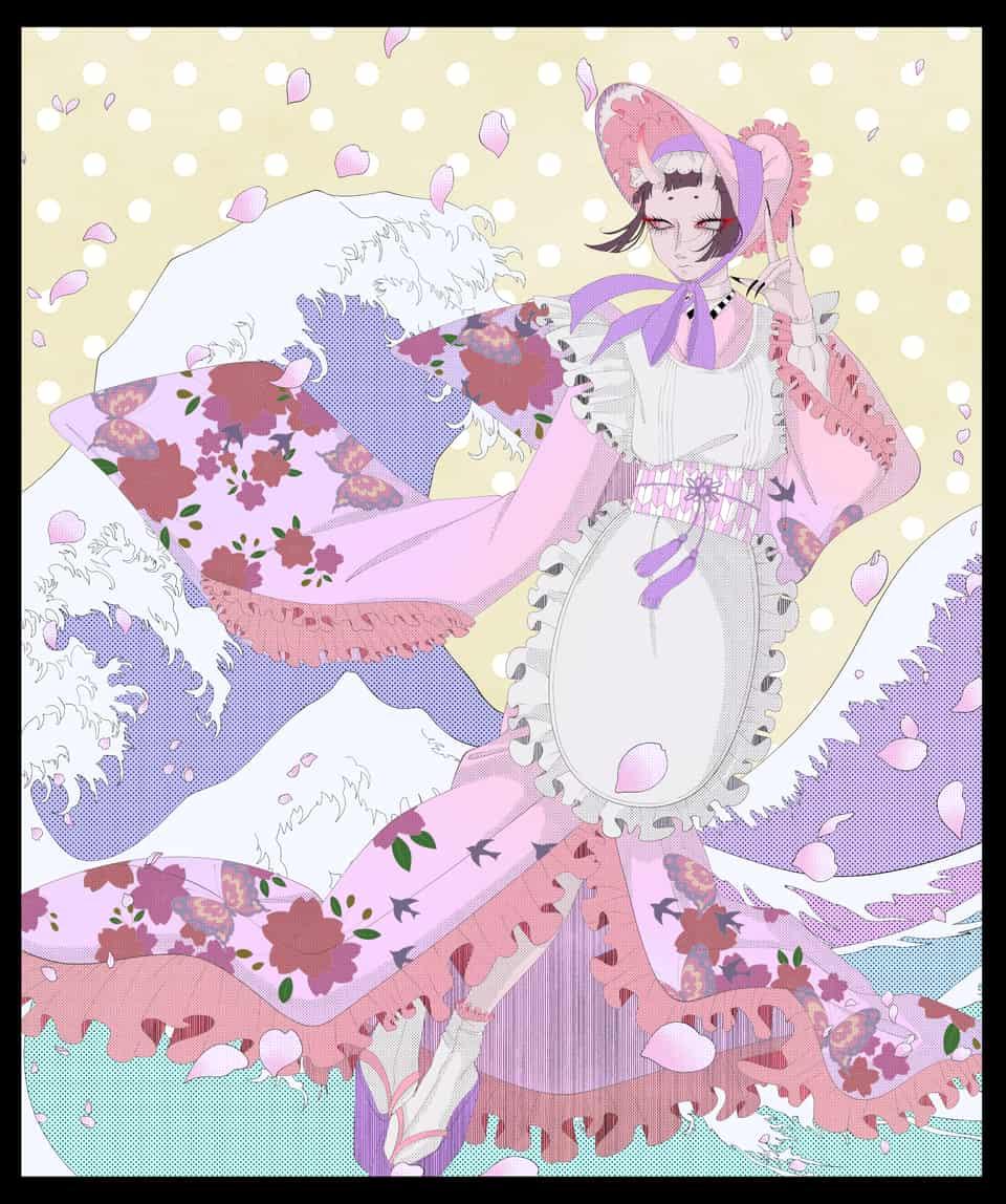 波 Illust of なぎ Kyoto_Award2020_illustration kimono girl