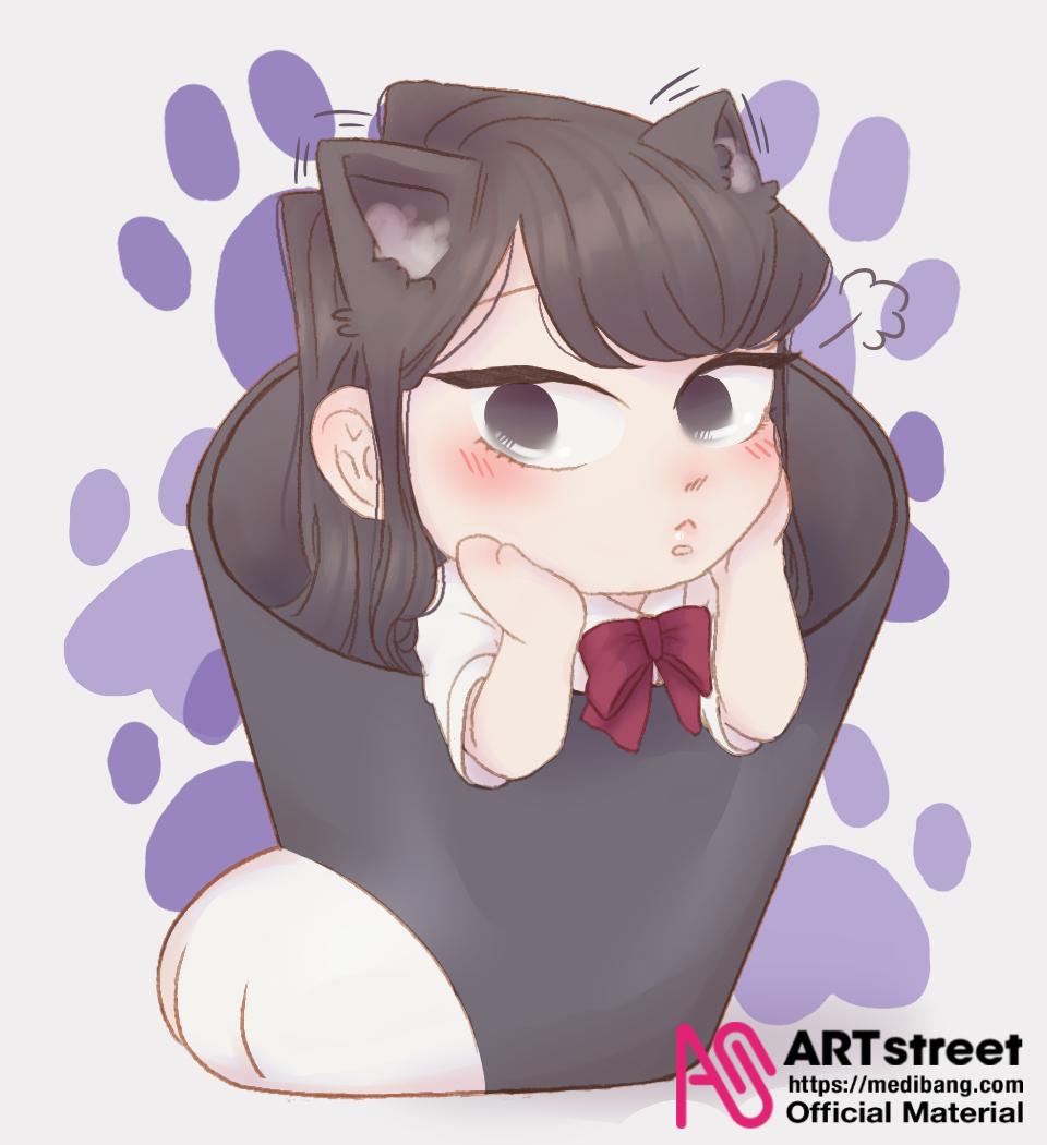 Komi-san Illust of Mac.wants.cake tracedrawing3rd Trace&Draw【Official】 shy cat_ears mangaart manga komi-san Shouko
