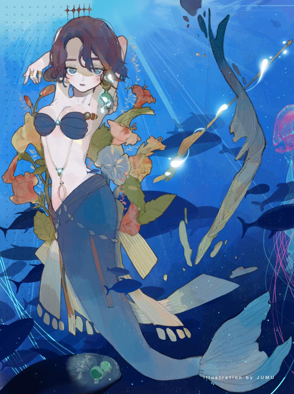 人鱼 Illust of 九木口冬 深海少女 人魚姫 人鱼 mermaid
