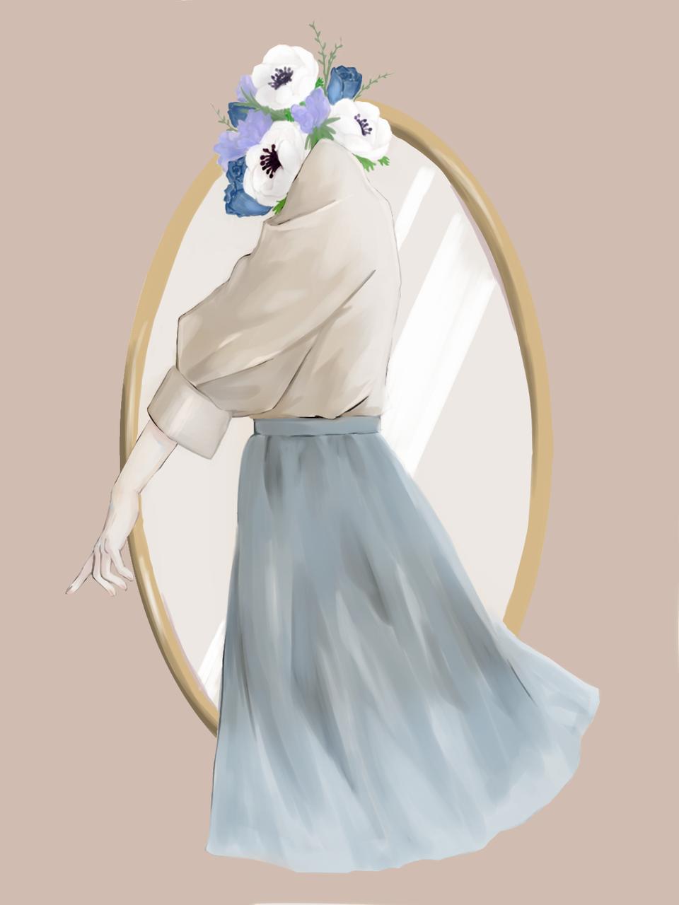 生け花 Illust of ごぱん April2021_Flower original impasto oc illustration Emo