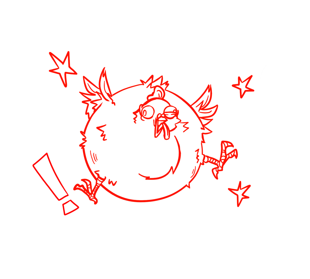 Cluck Cluck BOOM! Illust of 33 Digital_Fireworks fun line_art ! fireworks chicken funny wild star
