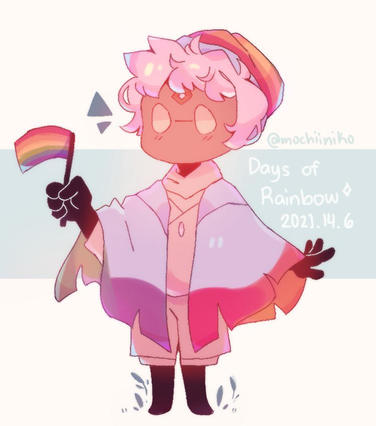 Happy Pride! :D Illust of MochiiNiko medibangpaint chibi pride pastel cute skychildrenoflight rainbow