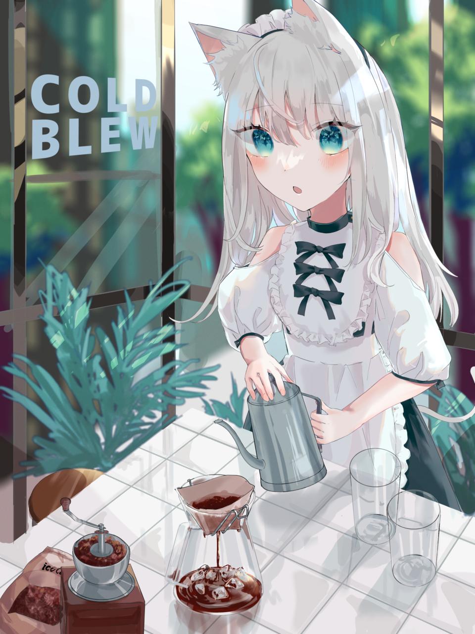 コールドブリュー Illust of ねおん* illustration maid animal_ears original コーヒー oc