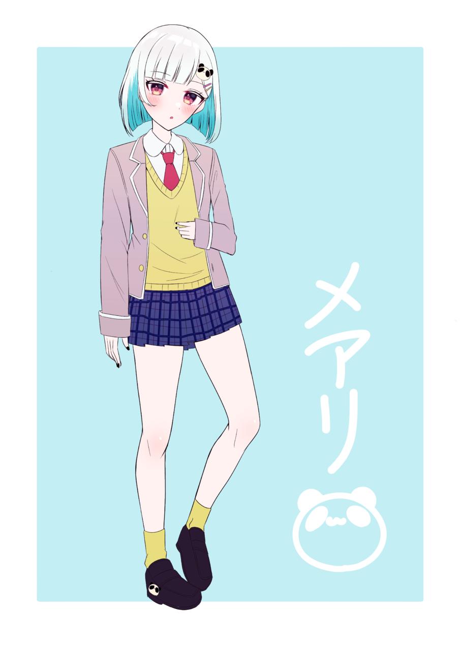 メアリちゃん🐼 Illust of じゅにねう original 女子高生 ショートヘア girl インナーカラー
