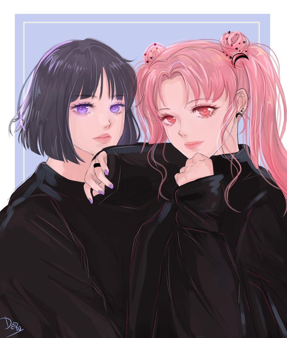 美少女戦士セーラームーン: ほたるとちびうさ Illust of daba_illust art fanart PrettyGuardianSailorMoon manga anime illustration kawaii cute