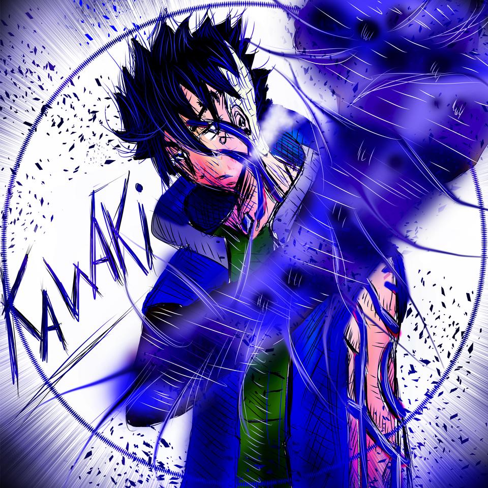 kawaki blue version Illust of AcP May2021_Monochrome