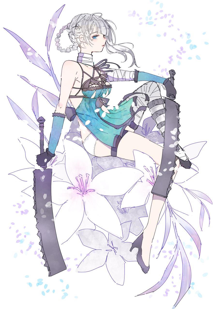 kaine Illust of nora flower 横顔 カイネ NieR:Automata girl ニーアレプリカント