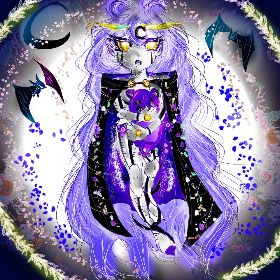 Little Vamp Sally¨s Twin Illust of AcP March2021_Creature