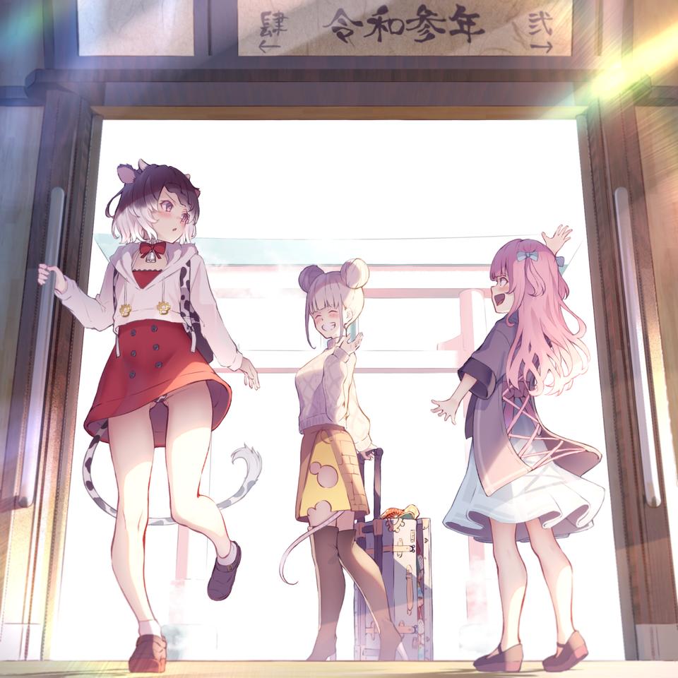 またね。 Illust of 赤薄 紅 January2021_Contest:OC original girl 干支 年賀状
