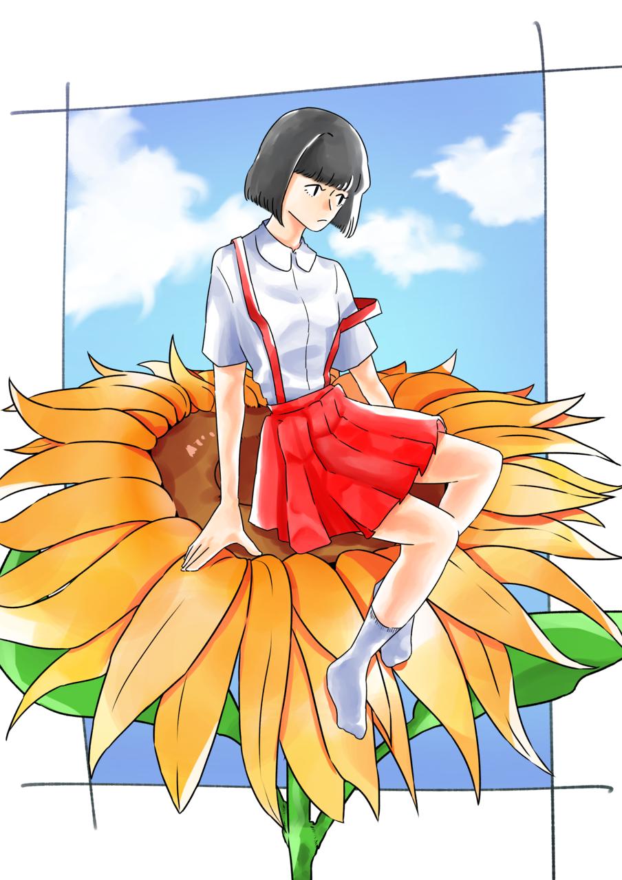 夏 Illust of ハン January2021_Contest:OC original girl flower summer