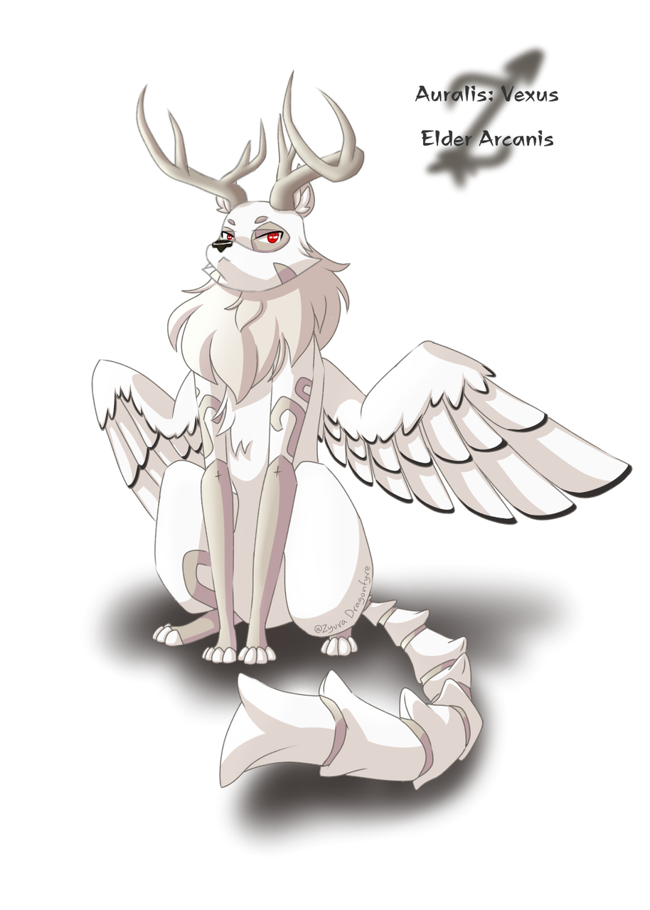 New OC and Species Preview (read desc.) Illust of Zyvra Dragonfyre medibangpaint dragon iPad_raffle wolf bone furry birds species deer oc