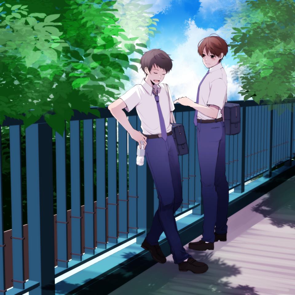 ☆ Illust of ぽち boy summer schooluniform original