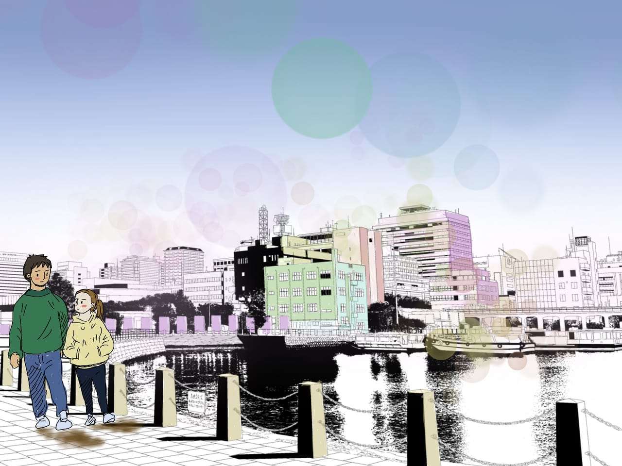 설렘 Illust of H~Finn Background_Image_Contest BackgroundImageContest_Using_Division 설렘 pink 연인