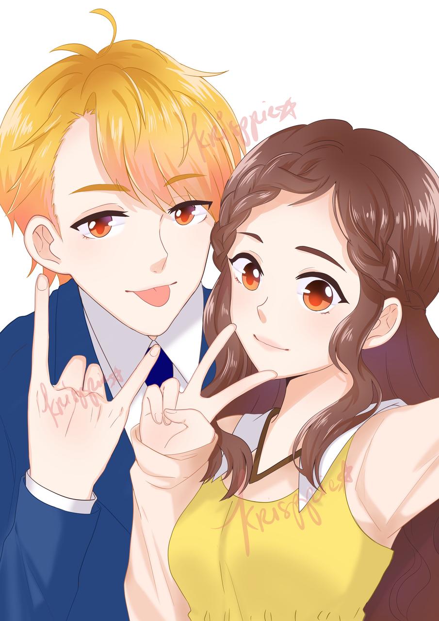 📸💖 Illust of krisppie medibangpaint illustration couple anime
