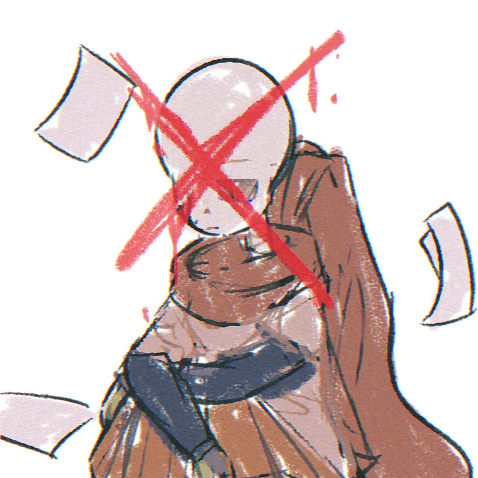 art block Illust of ✧・゚:* Fresh *:・゚✧ UndertaleAU undertale SansAU artblock angst notventart Ink!Sans