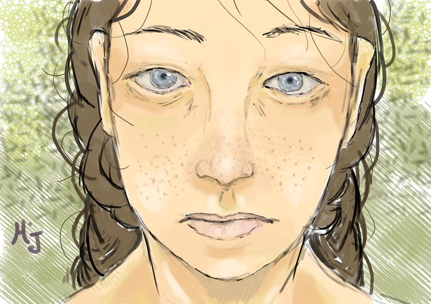 Quatrième dessin digital... Illust of Hard-Jaw digital girl wacom drawing intuos