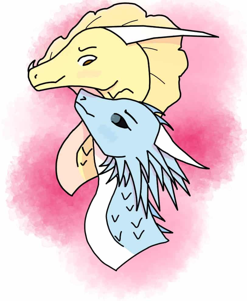 Happy Valentines Day! Illust of Warriorbeast Feb2020:VDAY TuiTSutherland Dragons Wof