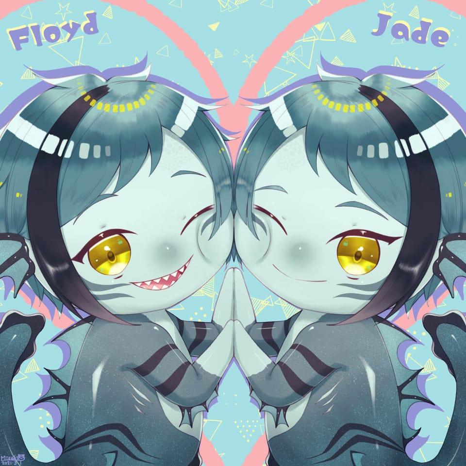 稚魚ちゃんリーチ兄弟 Illust of 花衣美咲 FloydLeech illustration JadeLeech Twisted-Wonderland