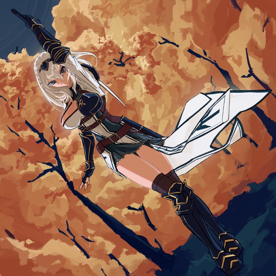 白銀 NOEL Illust of ReyKomi armour 騎士 hololive femaleknight autumn virtual_YouTuber