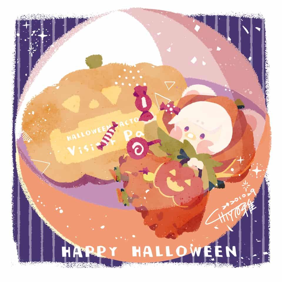 Happy Halloween! Illust of chiya雅 September2020_Contest:Furry Halloween 主線なし