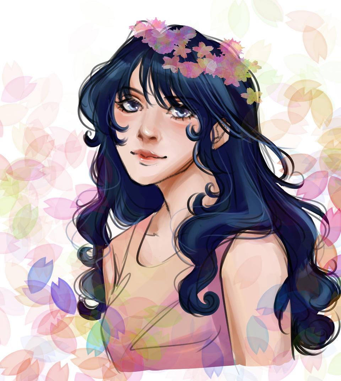 my ideal waifu Illust of pattachan MyIdealWaifu Digital_Fireworks MyIdealWaifu_MyIdealHusbandoContest VOCALOID portrait girl animeart animestyle realistic Girls animegirl