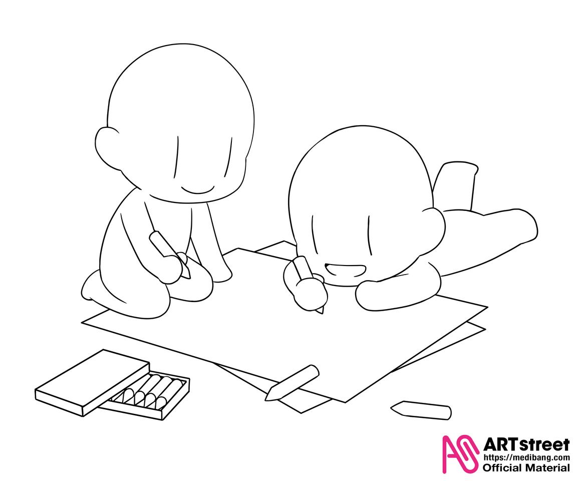 【公式】トレスde描こう!-第35弾-/Trace&Draw【Official】 no.35 Illust of ART street The_Challengers 公式トレス素材 トレス素材 Trace&Draw【Official】