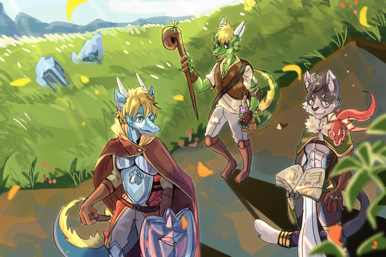 冒險 Illust of 肯尼吉 fantasy adventure February2021_Fantasy 勇者 furry rpg 異世界 獸人 background game