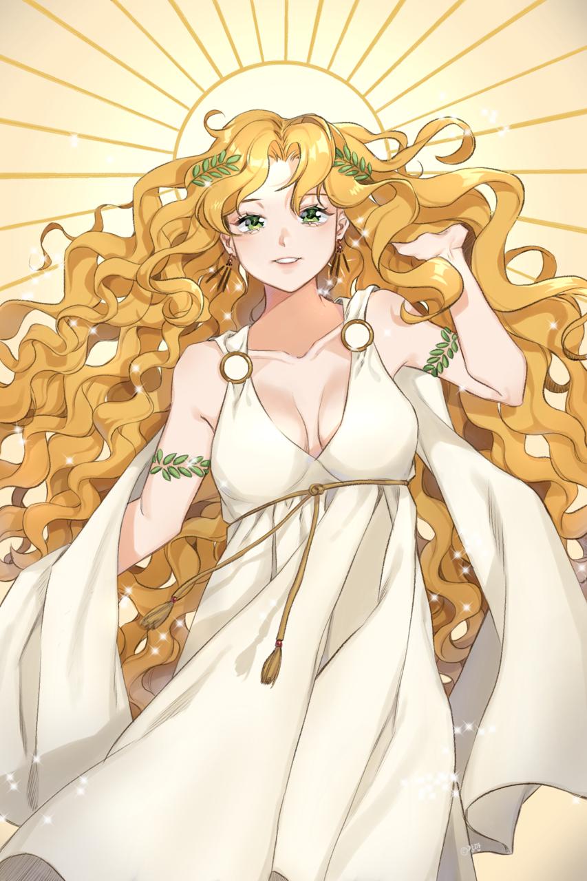 여신 / Goddess Illust of 강판/grater madibangpaint blonde goddess