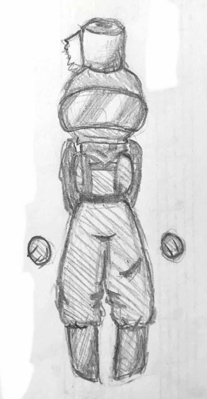 Poopyhead  Illust of AnonymouseSaysHoooi daily_doodlez AmongUs humanoid doodle bleh sketch