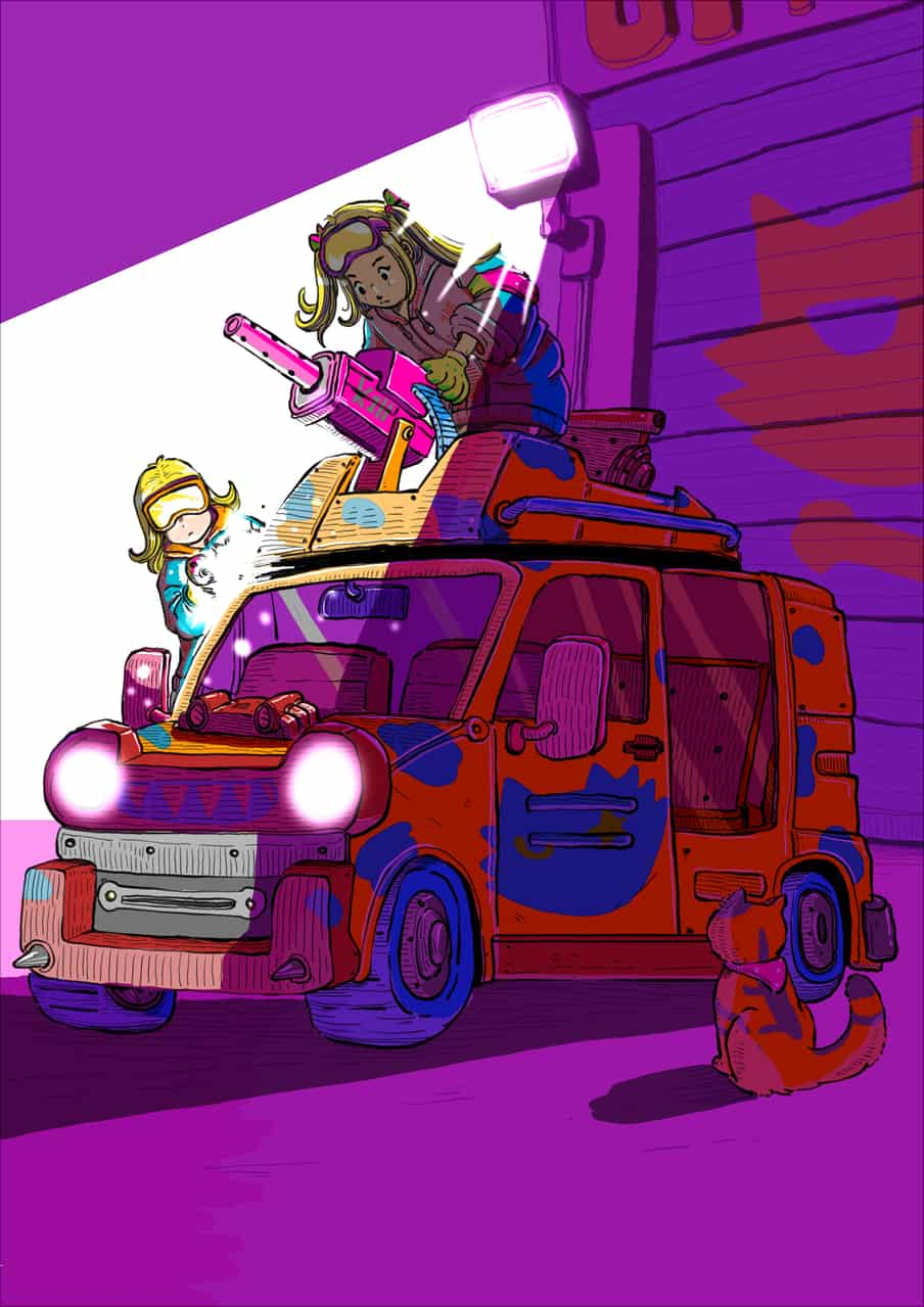 Me prepare for zombie apocalypse Illust of Wutikai November2020_Contest:Cyberpunk Apocalypse cat Mechanic original Garage