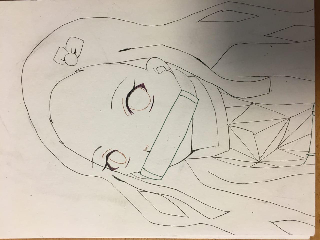 禰豆子(線画) Illust of ❦E❦ illustration painting マルチライナー KamadoNezuko line_art アナログ 画質死んでます KimetsunoYaiba