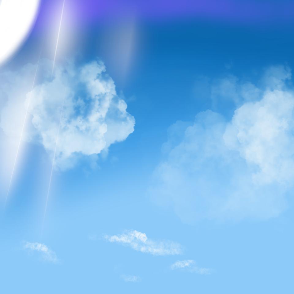 空 Illust of 夕方chu May2021_Monochrome sky