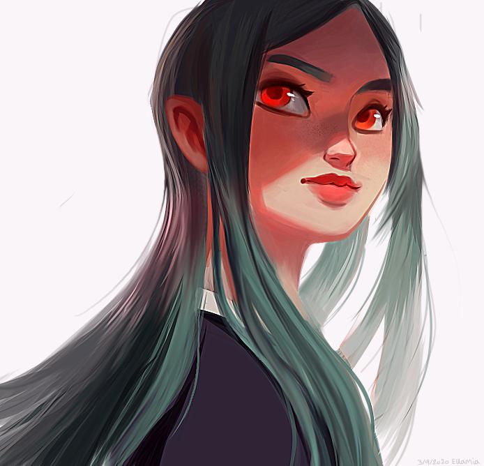 Character Illust of Ellamia Original_Illustration_Contest art painting characterdesign girl